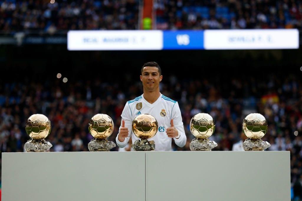 Ronaldo with his Golden Balls