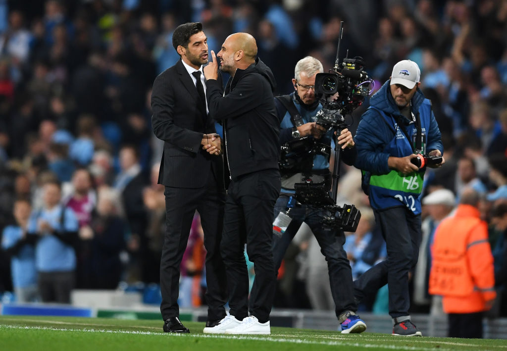 Champions League Group F match between Manchester City and Shakhtar Donetsk at Etihad Stadium on September 26, 2017 in Manchester, United Kingdom.