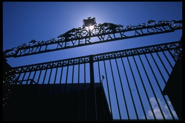A general view of Anfield, Liverpool home of Liverpool football club