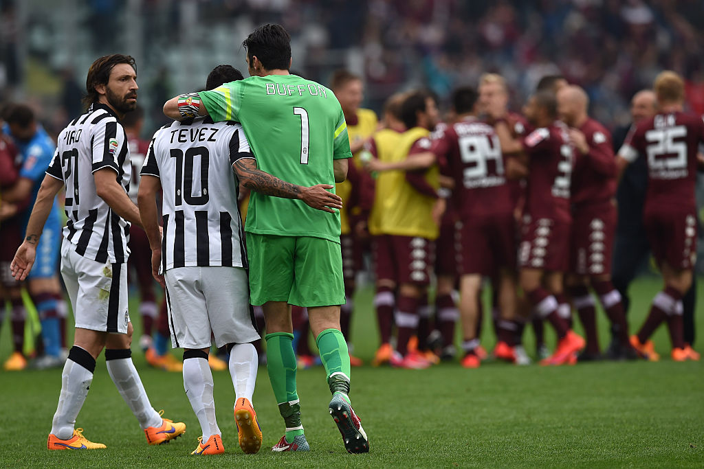 Tevez and Buffon