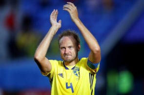 Sweden's Andreas Granqvist welcomes baby daughter from afar