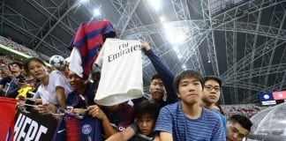 SINGAPORE - JULY 30: Fans are seen during the International Champions Cup 2018 match between Atletico Madrid and Paris Saint Germain at the National Stadium on July 30, 2018 in Singapore. (Photo by Suhaimi Abdullah/Getty Images for ICC)