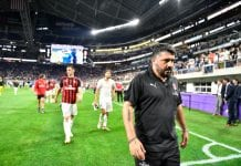 MINNEAPOLIS, MN - JULY 31: Head coach Gennaro Gattuso of AC Milan leaves the field after the International Champions Cup 2018 versus the Tottenham Hotspur at U.S. Bank Stadium on July 31, 2018 in Minneapolis, Minnesota. (Photo by Jules Ameel/Getty Images)