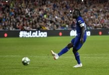 DUBLIN, IRELAND - AUGUST 01: Victor Moses of Chelsea takes a penalty during the Pre-season friendly International Champions Cup game between Arsenal and Chelsea at Aviva stadium on August 1, 2018 in Dublin, Ireland. (Photo by Charles McQuillan/Getty Images)