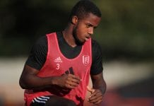 ALDERSHOT, ENGLAND - AUGUST 01: Ryan Sessegnon of Fulham during the Pre-Season Friendly between Fulham v Sampdoria at the EBB Stadium on August 1, 2018 in Aldershot, England. (Photo by Marc Atkins/Getty Images)