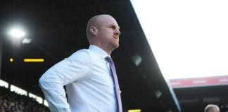 BURNLEY, ENGLAND - AUGUST 02: Sean Dyche manager of Burnley looks on during the UEFA Europa League Second Qualifying Round match between Burnley and Aberdeen at Turf Moor on August 2, 2018 in Burnley, England. (Photo by Nathan Stirk/Getty Images)