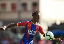 LONDON, ENGLAND - AUGUST 04: Wilfried Zaha of Crystal Palace during the Pre-Season Friendly between Crystal Palace and Toulouse at Selhurst Park on August 4, 2018 in London, England. (Photo by Marc Atkins/Getty Images)