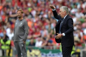 DUBLIN, IRELAND - AUGUST 04: S.S.C Napoli manager Carlo Ancelotti during the international friendly game between Liverpool and Napoli at Aviva Stadium on August 4, 2018 in Dublin, Ireland. (Photo by Charles McQuillan/Getty Images)