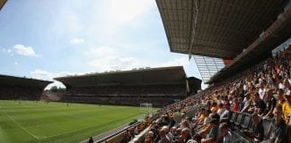 WOLVERHAMPTON, ENGLAND - AUGUST 04: A general view of Molineux during the pre-season friendly match between Wolverhampton Wanderers and Villareal at Molineux on August 4, 2018 in Wolverhampton, England. (Photo by David Rogers/Getty Images)
