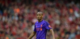 DUBLIN, IRELAND - AUGUST 04: Fabinho of Liverpool during the international friendly game between Liverpool and Napoli at Aviva Stadium on August 4, 2018 in Dublin, Ireland. (Photo by Charles McQuillan/Getty Images)