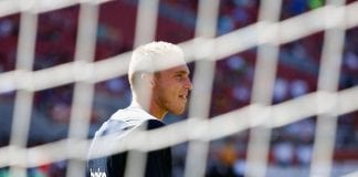 SANTA CLARA, CA - AUGUST 04: Jasper Cillessen #13 of FC Barcelona looks on before the International Champions Cup match against AC Milan at Levi's Stadium on August 4, 2018 in Santa Clara, California. (Photo by Lachlan Cunningham/Getty Images)