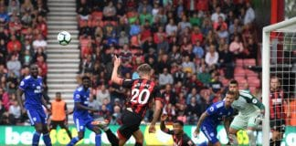 BOURNEMOUTH, ENGLAND - AUGUST 11: David Brooks of AFC Bournemouth misses a chance during the Premier League match between AFC Bournemouth and Cardiff City at Vitality Stadium on August 11, 2018 in Bournemouth, United Kingdom. (Photo by Mike Hewitt/Getty Images)