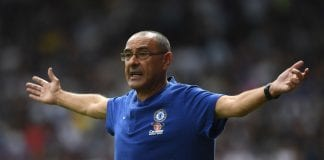 HUDDERSFIELD, ENGLAND - AUGUST 11: Chelsea manager Maurizio Sarri during the Premier League match between Huddersfield Town and Chelsea FC at John Smith's Stadium on August 11, 2018 in Huddersfield, United Kingdom. (Photo by Shaun Botterill/Getty Images)
