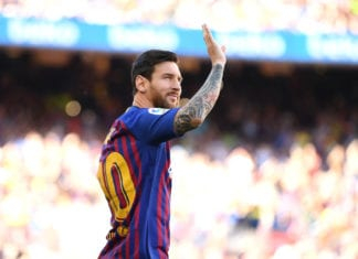 during the Joan Gamper Trophy between FC Barcelona and Boca Juniors at Camp Nou on August 15, 2018 in Barcelona, Spain.