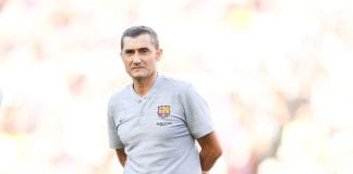 BARCELONA, SPAIN - AUGUST 15: Head coach Ernesto Valverde of FC Barcelona looks on during the Joan Gamper Trophy match between FC Barcelona and Boca Juniors at Camp Nou on August 15, 2018 in Barcelona, Spain. (Photo by David Ramos/Getty Images)