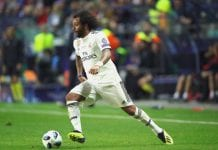 TALLINN, ESTONIA - AUGUST 15: Marcelo of Real runs with the ball during the UEFA Super Cup between Real Madrid and Atletico Madrid at Lillekula Stadium on August 15, 2018 in Tallinn, Estonia. (Photo by Alexander Hassenstein/Getty Images)