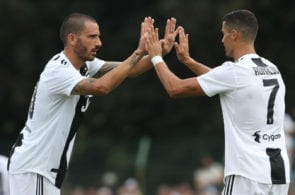 during the Pre-Season Friendly match between Juventus and Juventus U19 on August 12, 2018 in Villar Perosa, Italy.