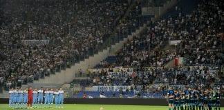Il minuto di silenzio in ricordo delle vittime di Genova Campionato Serie A Tim incontro Lazio V Napoli allo Stadio Olimpico di Roma Roma 18 - 08 - 2018 @ Marco Rosi / Fotonotizia
