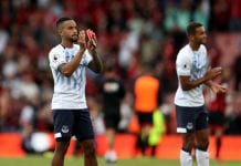 BOURNEMOUTH, ENGLAND - AUGUST 25: Theo Walcott of Everton shows appreciation to the fans after the Premier League match between AFC Bournemouth and Everton FC at Vitality Stadium on August 25, 2018 in Bournemouth, United Kingdom. (Photo by Dan Istitene/Getty Images)