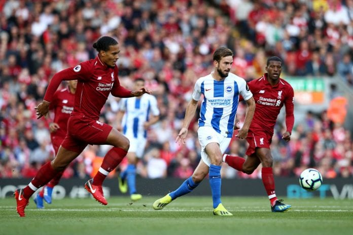 46189c086 Liverpool s defender Virgil van Dijk is proud of his team s work ethic in  their hard-fought 1-0 win over Brighton at Anfield.