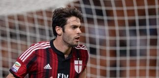 MILAN, ITALY - MAY 18: Kaka of AC Milan during the Serie A match between AC Milan and US Sassuolo Calcio at San Siro Stadium on May 18, 2014 in Milan, Italy. (Photo by Claudio Villa/Getty Images)