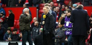 MANCHESTER, ENGLAND - JANUARY 07: Former Manchester United player Paul Scholes and The BT Sport team during the Emirates FA Cup third round match between Manchester United and Reading at Old Trafford on January 7, 2017 in Manchester, England. (Photo by Clive Brunskill/Getty Images)