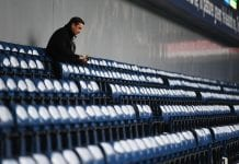 WEST BROMWICH, ENGLAND - MAY 12: Gary Neville is seen in the stands prior to the Premier League match between West Bromwich Albion and Chelsea at The Hawthorns on May 12, 2017 in West Bromwich, England. (Photo by Michael Regan/Getty Images)
