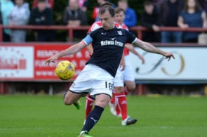 BRECHIN, SCOTLAND - JULY 11: Paul McGowan of Dundee in action during the pre season friendly between Brechin City and Dundee at Glebe Park on July 11, 2017 in Brechin, Scotland. (Photo by Mark Runnacles/Getty Images)