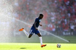 LONDON, ENGLAND - MAY 19: Tiemoue Bakayoko of Chelsea during The Emirates FA Cup Final between Chelsea and Manchester United at Wembley Stadium on May 19, 2018 in London, England. (Photo by Catherine Ivill/Getty Images)