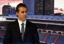 MADRID, SPAIN - JUNE 14: Julen Lopetegui addresses the media after being announced as new Real Madrid head coach at Santiago Bernabeu Stadium on June 14, 2018 in Madrid, Spain. on June 14, 2018 in Madrid, Spain. (Photo by Quality Sport Images/Getty Images)