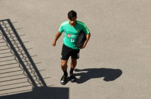 KAZAN, RUSSIA - JUNE 24: Daniel Arzani of Australia arrives prior to an Australian Socceroos media opportunity at Stadium Trudovye Rezervy on June 24, 2018 in Kazan, Russia. (Photo by Robert Cianflone/Getty Images)