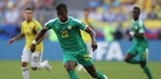 SAMARA, RUSSIA - JUNE 28: Keita Balde of Senegal during the 2018 FIFA World Cup Russia group H match between Senegal and Colombia at Samara Arena on June 28, 2018 in Samara, Russia. (Photo by Michael Steele/Getty Images)