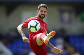 CHESTER, ENGLAND - JULY 07: Danny Ings of Liverpool during the Pre-season friendly between Chester FC and Liverpool on July 7, 2018 in Chester, United Kingdom. (Photo by Lynne Cameron/Getty Images)
