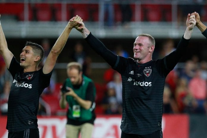 265169eb9 England legend Wayne Rooney made an incredible effort to help his MLS squad DC  United win their match against Orlando in the last minute.