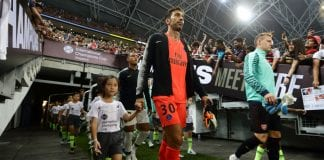 SINGAPORE - JULY 28: Gianluigi Buffon of Paris Saint Germain walks out of the tunnel for the International Champions Cup match between Arsenal and Paris Saint Germain at the National Stadium on July 28, 2018 in Singapore. (Photo by Suhaimi Abdullah/Getty Images for ICC)
