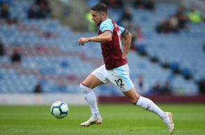 BURNLEY, ENGLAND - JULY 29: Robbie Brady of Burnley runs with the ball during a pre-season friendly match between Burnley and Montpellier at Turf Moor on July 29, 2018 in Burnley, England. (Photo by Alex Livesey/Getty Images)