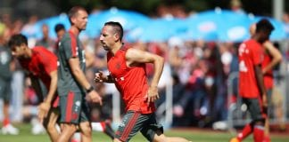 ROTTACH-EGERN, GERMANY - AUGUST 09: Franck Ribery of Bayern Munich in action during FC Bayern Muenchen pre season training on August 9, 2018 in Rottach-Egern, Germany. (Photo by Adam Pretty/Bongarts/Getty Images)