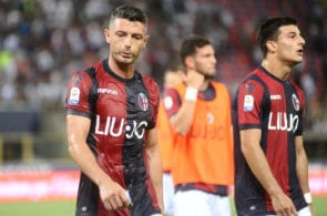 BOLOGNA, ITALY - AUGUST 19: Blerim Dzemaili of Bologna FC looks dejected at the end of the serie A match between Bologna FC and SPAL at Stadio Renato Dall'Ara on August 19, 2018 in Bologna, Italy. (Photo by Mario Carlini / Iguana Press/Getty Images)