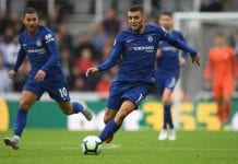 NEWCASTLE UPON TYNE, ENGLAND - AUGUST 26: Chelsea player Mateo Kovacic in action during the Premier League match between Newcastle United and Chelsea FC at St. James Park on August 26, 2018 in Newcastle upon Tyne, United Kingdom. (Photo by Stu Forster/Getty Images)