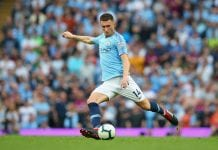 MANCHESTER, ENGLAND - SEPTEMBER 01: Aymeric Laporte of Manchester City during the Premier League match between Manchester City and Newcastle United at Etihad Stadium on September 1, 2018 in Manchester, United Kingdom. (Photo by Alex Livesey/Getty Images)