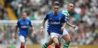 GLASGOW, SCOTLAND - SEPTEMBER 02: Ryan Kent of Rangers controls the ball during the Scottish Premier League between Celtic and Rangers at Celtic Park Stadium on September 2, 2018 in Glasgow, Scotland. (Photo by Ian MacNicol/Getty Images)