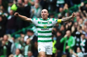 GLASGOW, SCOTLAND - SEPTEMBER 02: Scott Brown of Celtic is seen at full time during the Scottish Premier League between Celtic and Rangers at Celtic Park Stadium on September 2, 2018 in Glasgow, Scotland. (Photo by Ian MacNicol/Getty Images)
