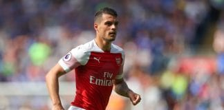 CARDIFF, WALES - SEPTEMBER 02: Granit Xhaka of Arsenal during the Premier League match between Cardiff City and Arsenal FC at Cardiff City Stadium on September 2, 2018 in Cardiff, United Kingdom. (Photo by Catherine Ivill/Getty Images)