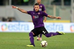 FLORENCE, ITALY - SEPTEMBER 02: Cristiano Biraghi of ACF Fiorentina in action during the serie A match between ACF Fiorentina and Udinese at Stadio Artemio Franchi on September 2, 2018 in Florence, Italy. (Photo by Gabriele Maltinti/Getty Images)