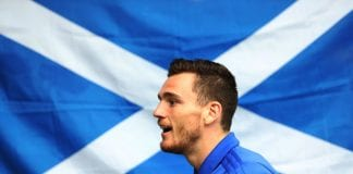GLASGOW, SCOTLAND - SEPTEMBER 03: New Scotland Captain Andy Robertson is seen during a Scotland training session ahead of their International friendly match against Belgium at Orium Performance Centre on September 3, 2018 in Edinburgh, Scotland. (Photo by Ian MacNicol/Getty Images)