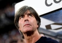 MUNICH, GERMANY - SEPTEMBER 06: Joachim Low, Manager of Germany looks on prior to the UEFA Nations League Group A match between Germany and France at Allianz Arena on September 6, 2018 in Munich, Germany. (Photo by Matthias Hangst/Bongarts/Getty Images)