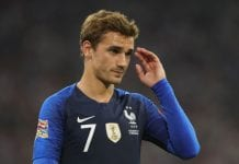 MUNICH, GERMANY - SEPTEMBER 06: Antoine Griezmann of France looks on during the UEFA Nations League group A match between Germany and France at Allianz Arena on September 6, 2018 in Munich, Germany. (Photo by Alexander Hassenstein/Bongarts/Getty Images)