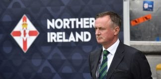 BELFAST, NORTHERN IRELAND - SEPTEMBER 08: Northern Ireland manager Michael O'Neill during the UEFA Nations League B group three match between Northern Ireland and Bosnia-Herzegovina at Windsor Park on September 8, 2018 in Belfast, Northern Ireland. (Photo by Charles McQuillan/Getty Images)