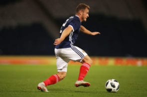 GLASGOW, SCOTLAND - SEPTEMBER 07: Ryan Fraser of Scotland is seen during the International Friendly match between Scotland and Belgium at Hampden Park on September 7, 2018 in Glasgow, United Kingdom. (Photo by Ian MacNicol/Getty Images)