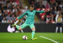 LONDON, ENGLAND - SEPTEMBER 08: David de Gea of Spain takes a goal kick during the UEFA Nations League A group four match between England and Spain at Wembley Stadium on September 8, 2018 in London, United Kingdom. (Photo by Michael Regan/Getty Images)